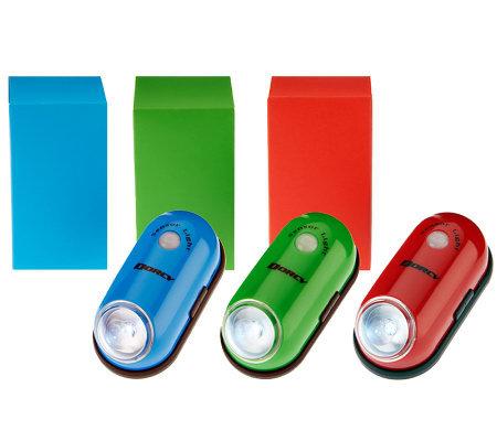 dorcy set of 3 wireless magnetic motion sensor lights