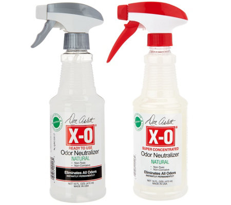 Don Aslett's 16oz X-O Odor Neutralizer w/ 16oz Refill Concentrate