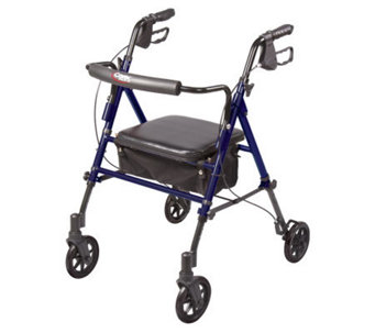 Carex Step-n-Rest Rollator with Padded & Adjustable Seat - V117968
