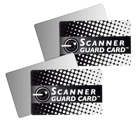 Scanner Guard 2 Sets of (2) Anti-Scanning Credit Card Protectors