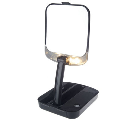 Floxite 10x Magnifying Lighted Mini Vanity Compact Mirror
