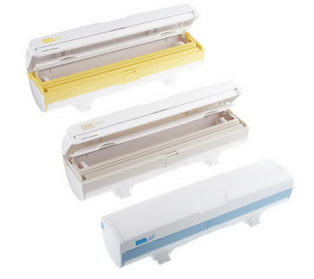 Set of 3 WrapMaster Plastic Wrap, Foil & WaxPaper Dispensers