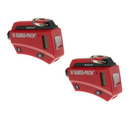 Swiss Tech Set of 2 BodyGard XL7 7-in-1 Auto Emergency Tool