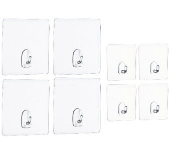 """As Is"" Magic Hooks Set of 8 Reusable Multi-Purpose Hooks - V117074"