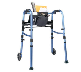 "Carex Explorer Folding Walker with 5"" Wheels - V118074"