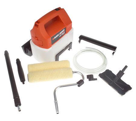 black decker 2 speed battery power paint roller. Black Bedroom Furniture Sets. Home Design Ideas