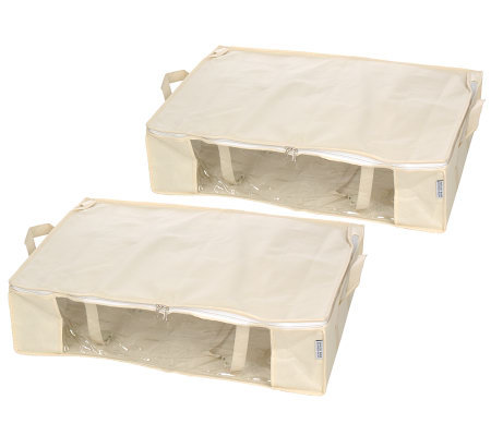 space bag set of 2 large under bed vacuum seal tote organizers page 1. Black Bedroom Furniture Sets. Home Design Ideas
