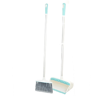 Broom Groomer Pro Upright Broom and Dustpan Set by Quirky