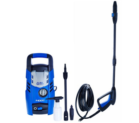 Blue Clean 1400 PSI Pressure Washer w/ Turbo and Extension Wand