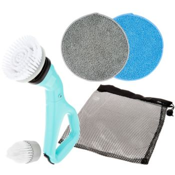 6-Piece Compact Cordless Power Scrubber with Cleaning Attachments