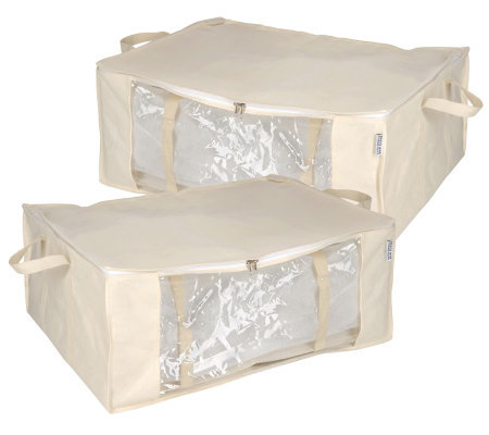 Space Bag Set of 2 Jumbo Stackable Vacuum Seal Storage Totes