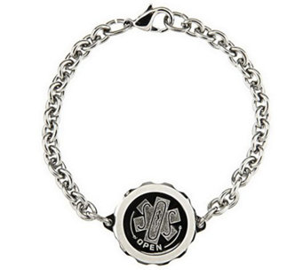 SOS Stainless Steel Emergency Medical ID Bracelet - V119677