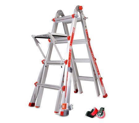Little Giant 24-in-1 Ladder w/Wheels Leg Leveler & Work Platform