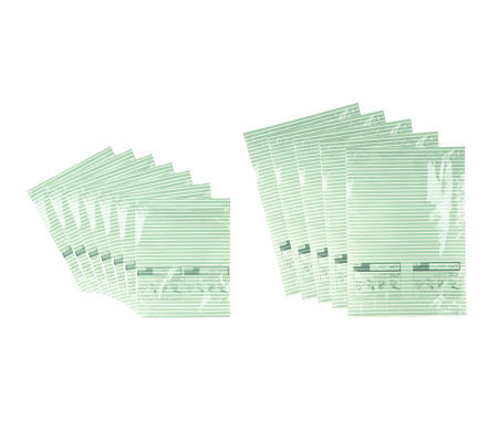 Pack and Press Set of 12 Space Saving Anti-microbial Storage Bags