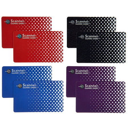Scanner Guard 4 Sets of 2 RFID Protecting Cards for Wallets
