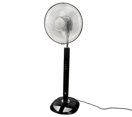 Sharper Image Oscillating Pedestal Fan with Timer and Remote Control