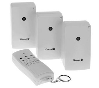 Globe Electric Indoor Wireless Set of 3 Remote Control Outlets - V32278