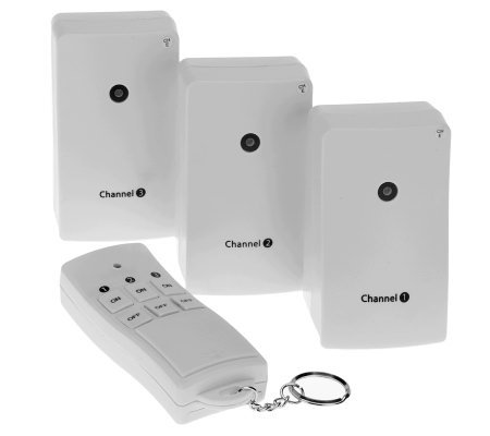 Indoor Wireless Set of 3 Remote Control Outlets by Globe Electric