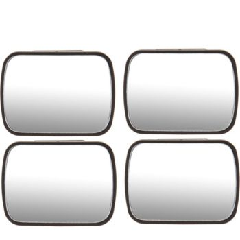 SecureAuto 2 Sets of Blind Spot Mirrors w/ Cleaning Cloth and Gift Boxes