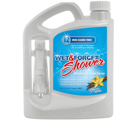Wet & Forget 64oz Weekly Spray and Rinse Shower Cleaner