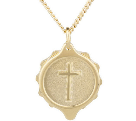 SOS Emergency Goldtone Medical ID Necklace