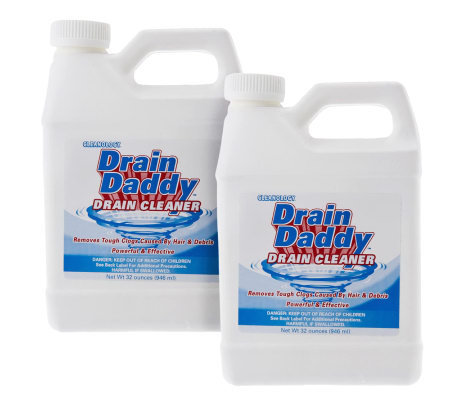 Drain Daddy Set of 2 Fast Acting 32 oz. Drain Cleaners