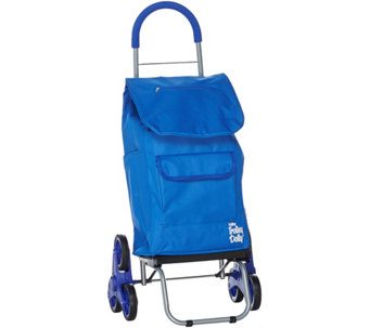 Trolley Dolly 2-in-1 Folding Cart & Dolly with Stair Climbing Wheels - V33981