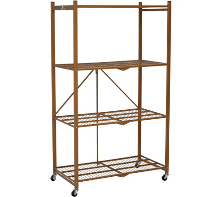 "Oasis 4-Tier Heavy Duty 67""x30"" Folding Storage Rack"