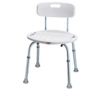 Carex Adjustable Bath & Shower Seat with Back - V118082