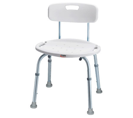 Carex Adjustable Bath & Shower Seat with Back