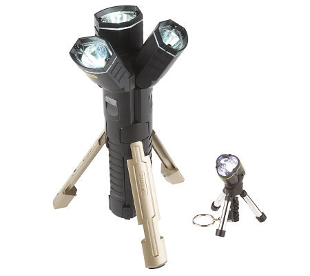 Stanley 3 in 1 Tripod LED Flashlight w/Keychain