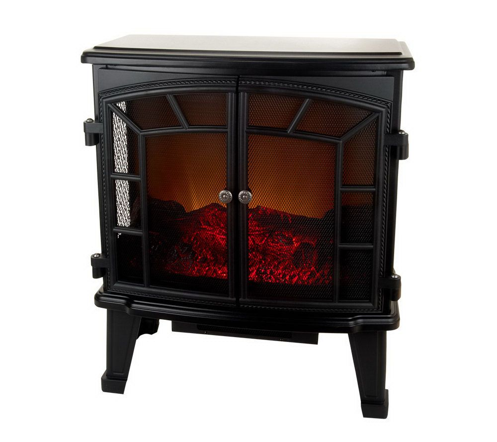 Duraflame Large Electric Stove Heater w/ Screen Front — QVC.com