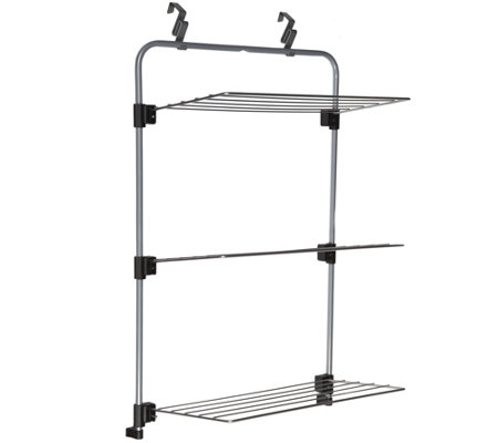 Charming Metaltex Over The Door Clothing And Towel Drying Rack