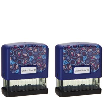 Guard your ID S/2 Medium Stamps with Refill Pads