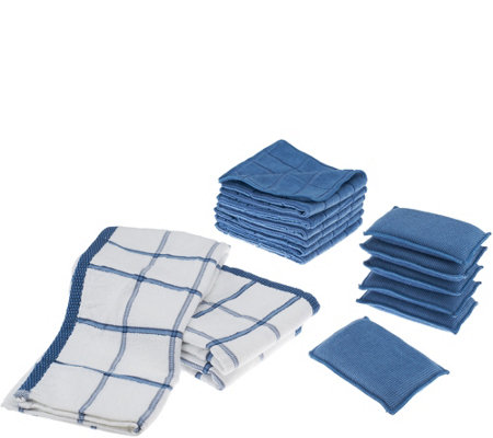 Don Aslett's 15 Piece Microfiber Kitchen Clean Up Set