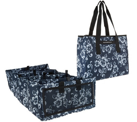 6-Way Folding Trunk Organizer Car Caddy with Carry All Tote