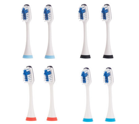 Pursonic 8-Pack Replacement Brush Heads S500/S520/S522
