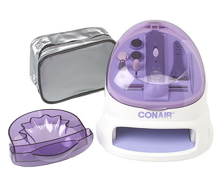 Nail care kit with dryer