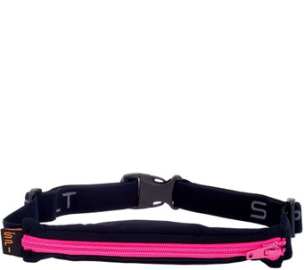 """As Is"" Spibelt Expandable Spandex Stretch Belt w/ Carrying Pouch - V127191"