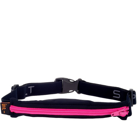 """As Is"" Spibelt Expandable Spandex Stretch Belt w/ Carrying Pouch"