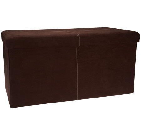 "Microsuede 30"" Folding Storage Bench by FHE"