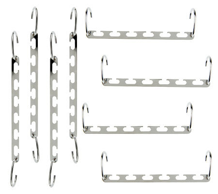 Set of 8 Space Saving Metal Hanger Cascaders