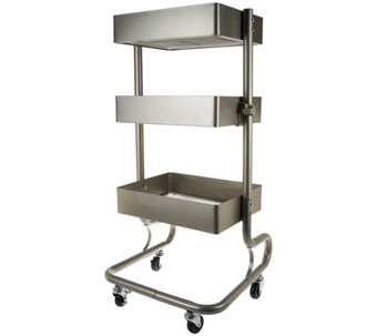 Design Accents 3-Tier Multi-Purpose Steel Cart with Wheels - V33993