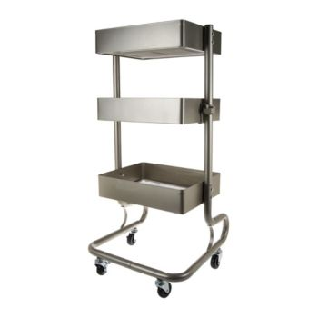Design Accents 3-Tier Multi-Purpose Steel Cart with Wheels