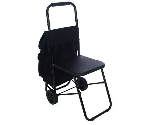 rest n roll multipurpose cart with seat and insulated pouch - page
