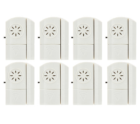 Set of 8 Wireless Door and Window Alarms with Chime Option