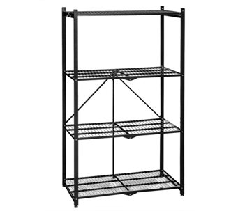 Pop-It 4-Tier Heavy Duty Collapsible Storage Shelf - V34396