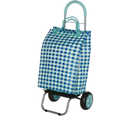 Trolley Dolly Basket Weave Cart w/ Extra Large Wheels & Cushion Handle