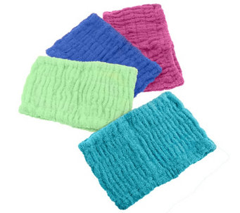 Set of 4 Solid Color 100% Cotton Turbie Hair Bands - V32897