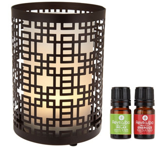 RevitaSpa Aromatherapy Diffuser and Flameless Candle w/Remote - V34497